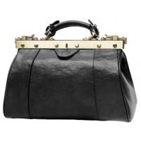 Кожная сумка саквояж женская KATANA (Франция) k-BLACK 8250