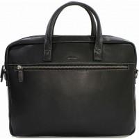Деловая Сумка портфель для ноутбука из кожи и документов кожа KATANA (Франция) k-69265 BLACK