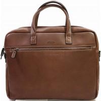Деловая сумка для документов  из натуральной кожи KATANA (Франция) k-69265 CHOCO
