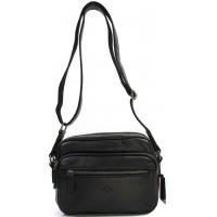 Горизонтальная мужская сумка через плечо горизонтальная KATANA (Франция) k-89611 BLACK