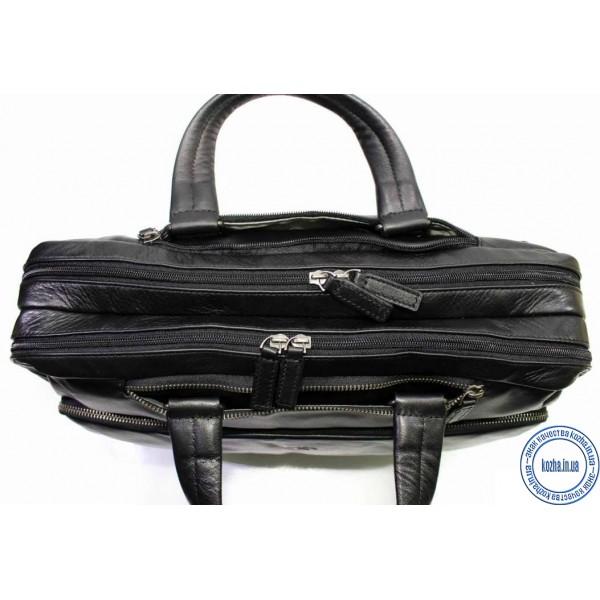 dc99b65e3af6 Кожаная Сумка портфель для ноутбука из кожи KATANA (Франция) k-81616 BLACK