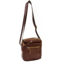Мужская сумка через плечо KOZHA BROWN 6008-03