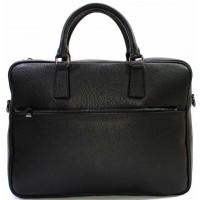 Кожаная деловая сумка портфель для документов и папок KOZHA BLACK 3310-01
