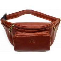 Кожаная сумка на пояс Италия TOSCANINO BROWN 2069-03