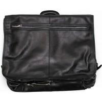 Кожаный портплед для костюма Италия VALENTINA BLACK 8812-01