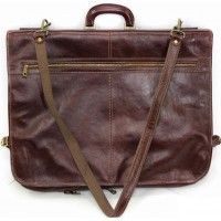 Кожаный портплед чехол для костюма Италия VALENTINA BROWN 8812-03