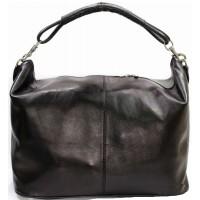 Дорожная кожаная сумка Италия VALENTINA BLACK 8814-01