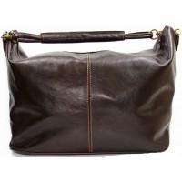 Дорожная кожаная сумка Италия VALENTINA CHOCO 8814-02