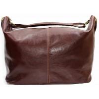 Кожаная дорожная сумка Италия VALENTINA BROWN 8814-03