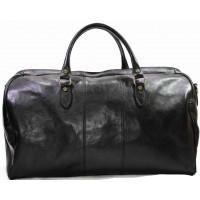 Дорожная сумка кожа Италия VALENTINA BLACK 8815G-01