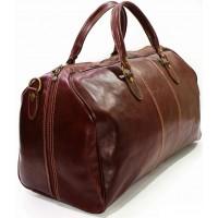 Дорожная сумка из кожи Италия VALENTINA BROWN 8815G-03