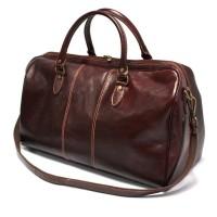 Кожаная дорожная сумка Италия VALENTINA NERO/MARRONE 8815G