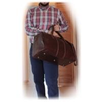 Дорожная сумка мужская кожаная Италия VALENTINA RED 8815G-08
