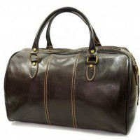Дорожная сумка кожаная мужская Италия VALENTINA CHOCO 8815M-02