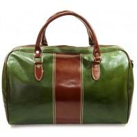Дорожная сумка кожаная Италия VALENTINA GREEN 8815M-05