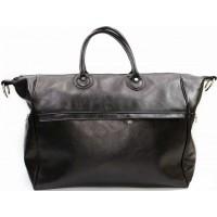 Кожаная дорожная сумка мужская Италия VALENTINA BLACK 8821-01