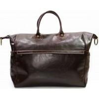 Кожаная дорожная сумка Италия VALENTINA CHOCO 8821-02