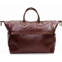 Кожаная дорожная сумка Италия VALENTINA BROWN 8821-03