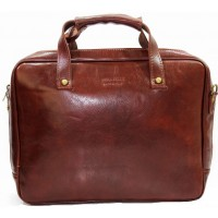 Кожаная деловая сумка портфель для документов KOZHA BROWN 3800A-03