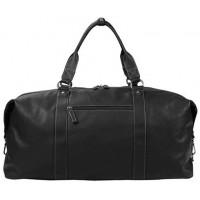 Дорожная кожаная сумка KATANA (Франция) k-69253 BLACK