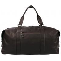 Дорожная кожаная сумка KATANA (Франция) k-69253 CHOCO