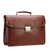 Деловой кожаный портфель мужской KATANA (Франция) k-31022 BROWN