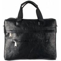Увеличивающийся портфель-сумка из натуральной кожи